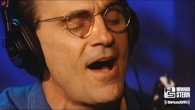 "James Taylor Covers ""Woodstock"" on the Howard Stern Show"